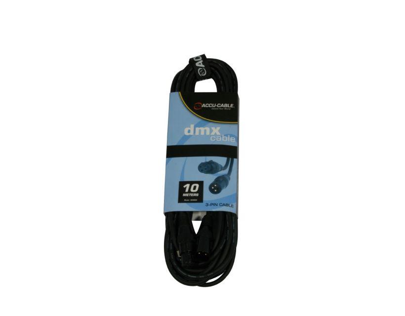 Accu-Cable AC-DMX3/10 3 p. XLRm/3 p. XLRf 10m DMX