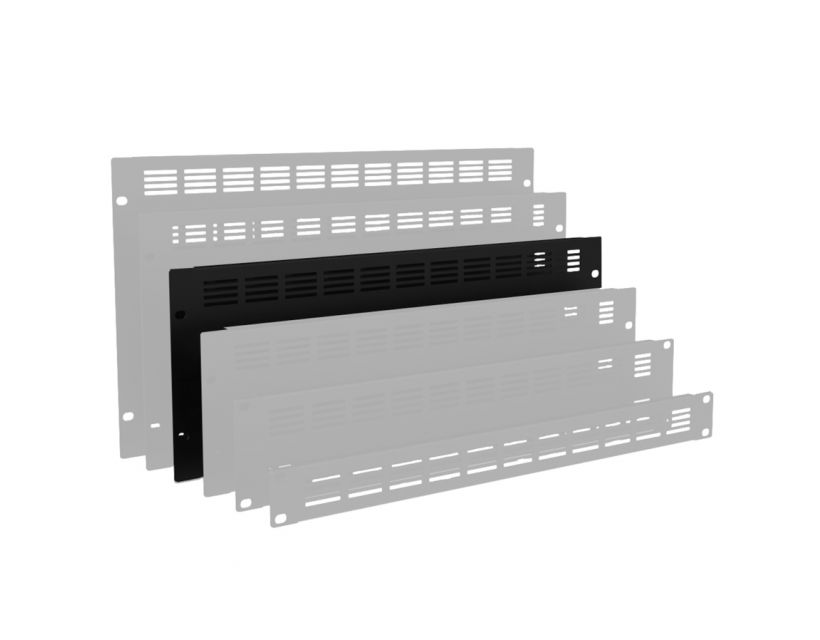 """Caymon 19"""" Blind Cover,Steel,4Units,Ventilated,Black"""