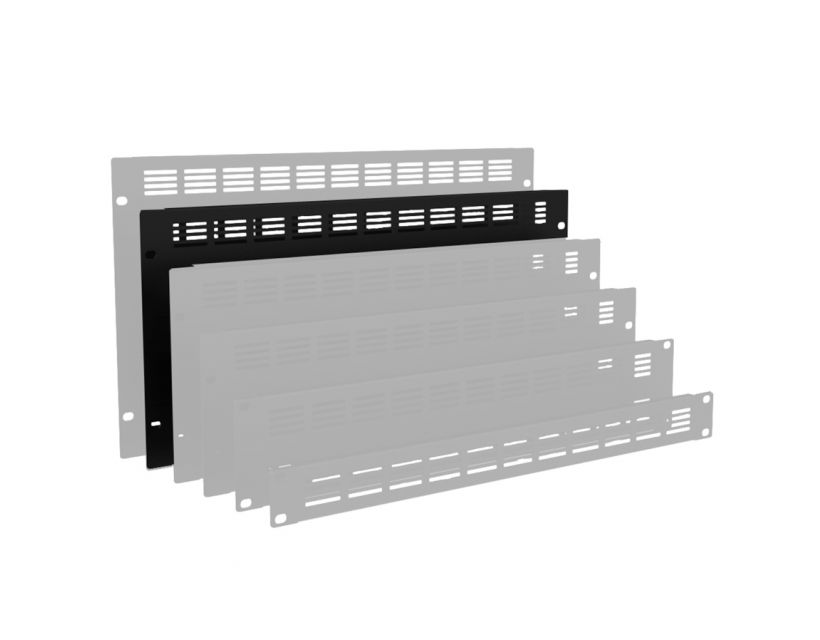 """Caymon 19"""" Blind Cover,Steel,5Units,Ventilated,Black"""