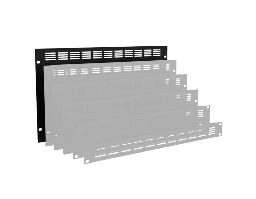 """Caymon 19"""" Blind Cover,Steel,6Units,Ventilated,Black"""