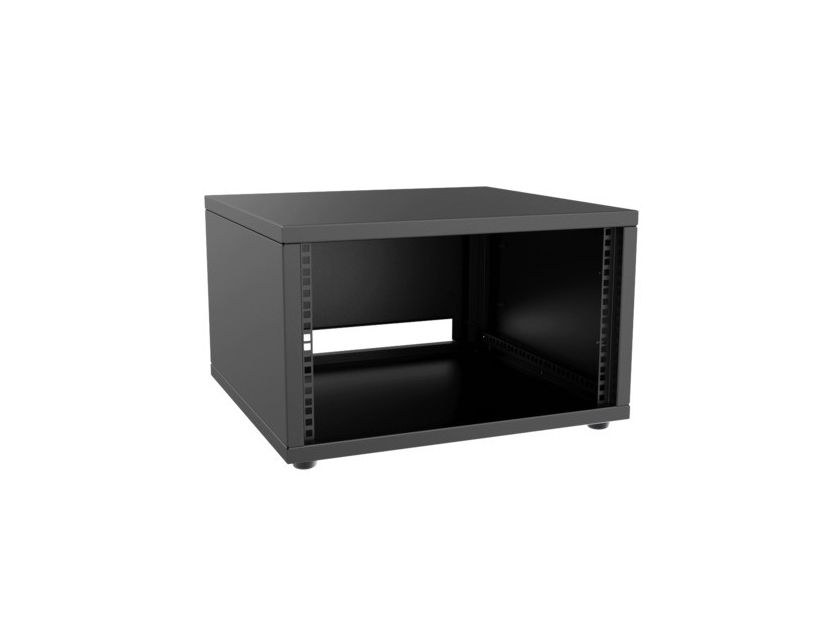 "Caymon 19"" Rack Cabinet - 9 Unit - 500mm - Flat Down - Black"