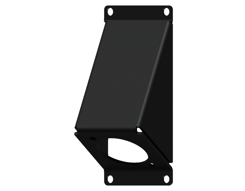 Caymon Casy 1 Space Angled Cover Plate With D-Size Hole - Black