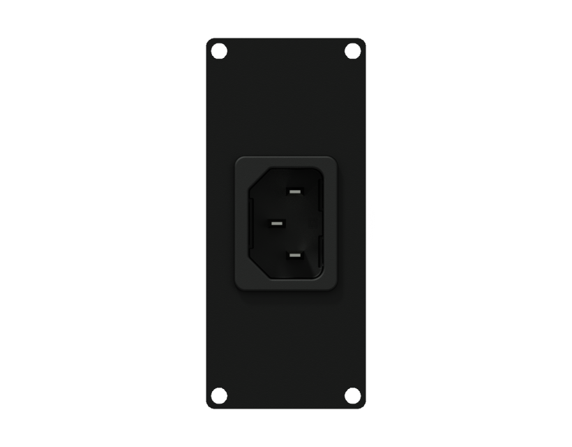 Caymon Casy 1 Space Euro Power Inlet Socket - Black