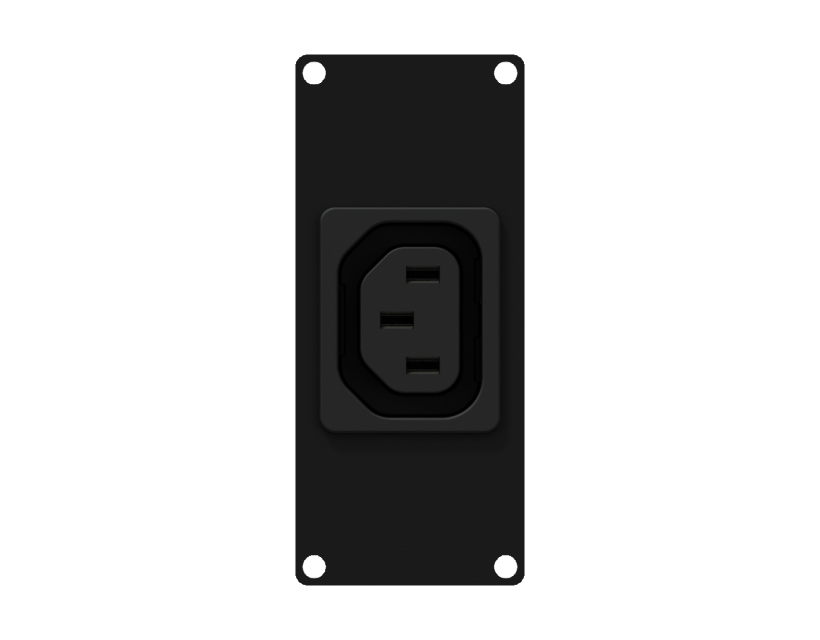 Caymon Casy 1 Space Euro Power Outlet Socket - Black