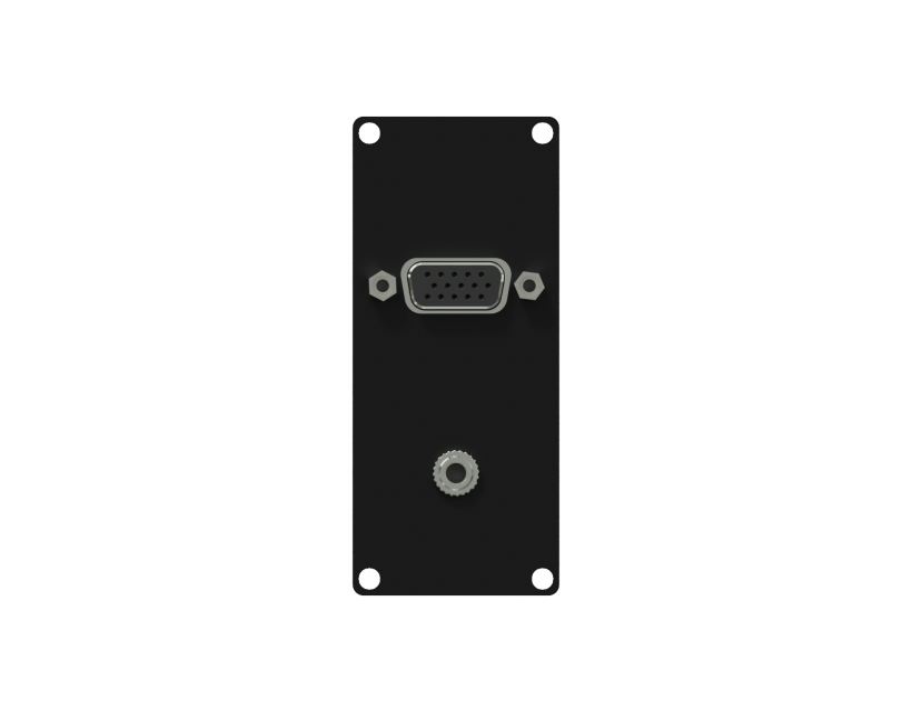 Caymon Casy 1 Space VGA & 3.5mm JACK Gender - Black