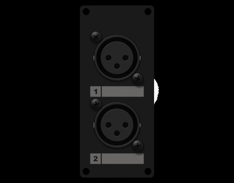 Caymon Casy 1 Space With 2 X XLR Female To 3-Pin Tb - Black