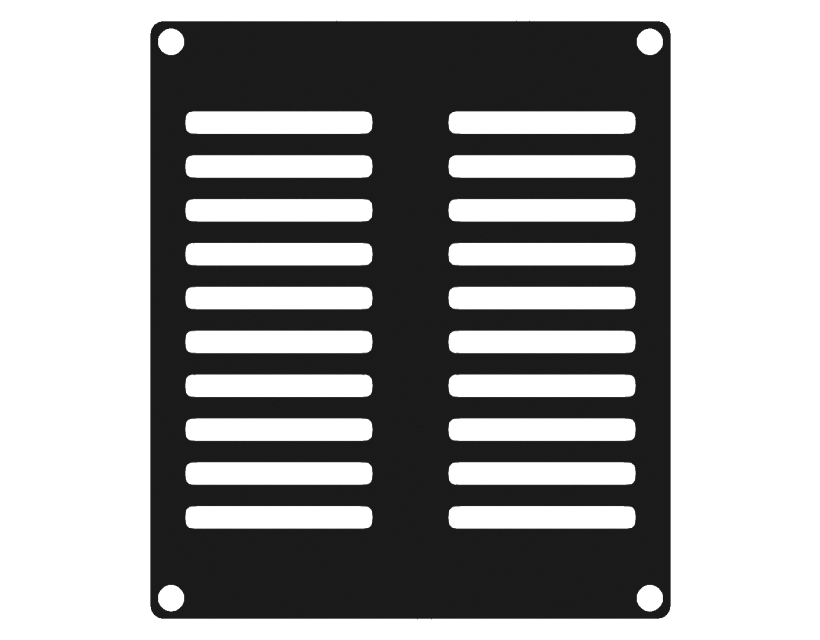Caymon Casy 2 Space Vented Blind Plate - Black