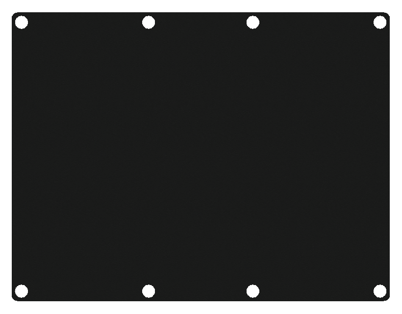 Caymon Casy 3 Space Closed Blind Plate - Black