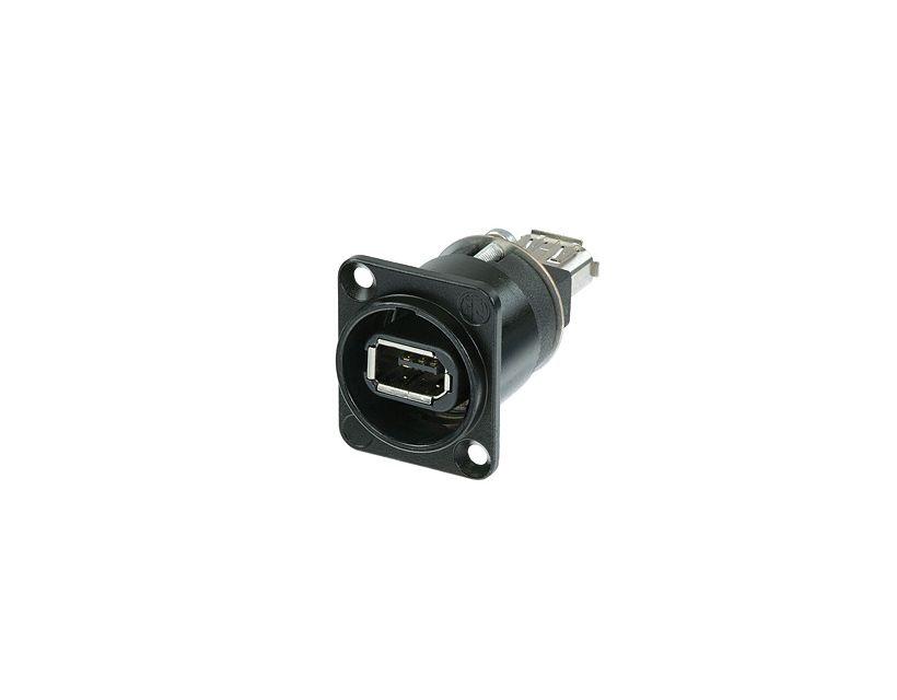 Neutrik Firewire 6-Pole Adapter D Size Nickel Color