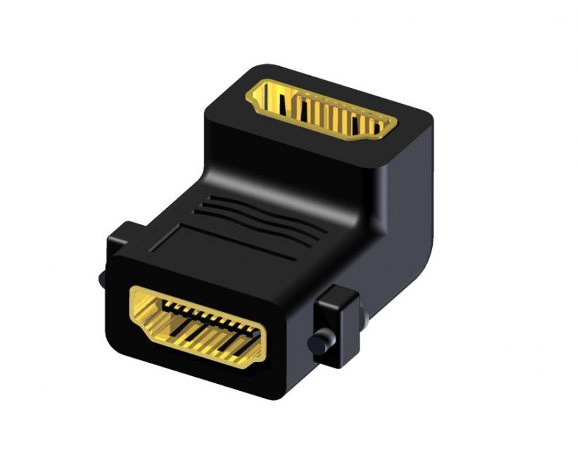 Procab Adapter Hdmi 19f - Hdmi 19f - Angled Fixscrews