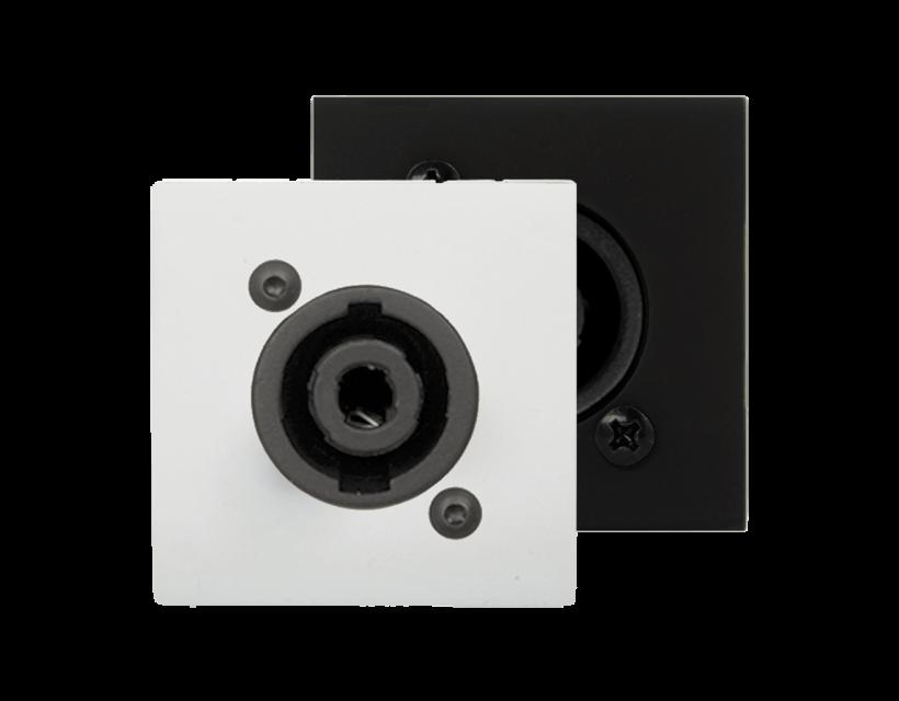 Audac Connection plate D-size speaker 45 X 45 mm - solderless White version