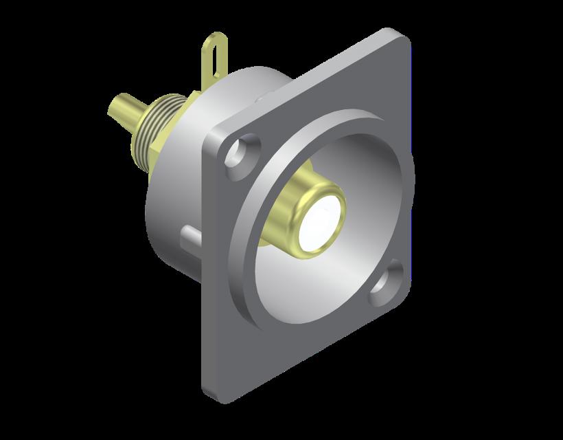 Procab Panel connector - rca/cinch female - metal Connector
