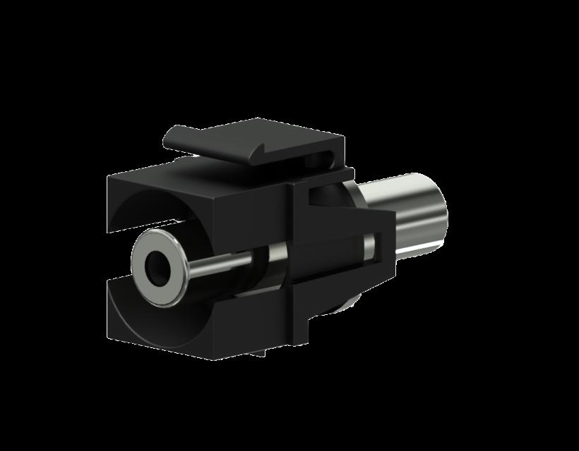 Procab Keystone adapter - 3.5 mm Jack female - 3.5 mm Jack female Black