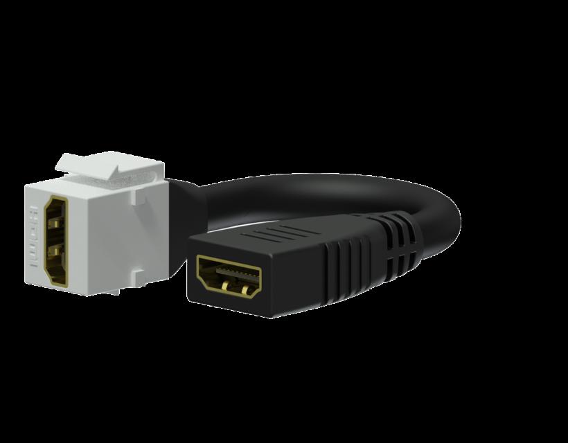 Procab Keystone adapter - HDMI A female - HDMI A female - pigtail White