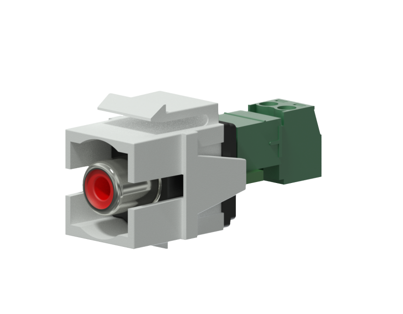 Procab Keystone adapter - RCA female - 2-pin terminal block - pair White