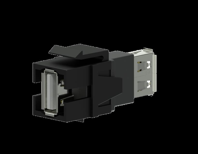 Procab Keystone adapter - USB 2.0 A - USB 2.0 A Black