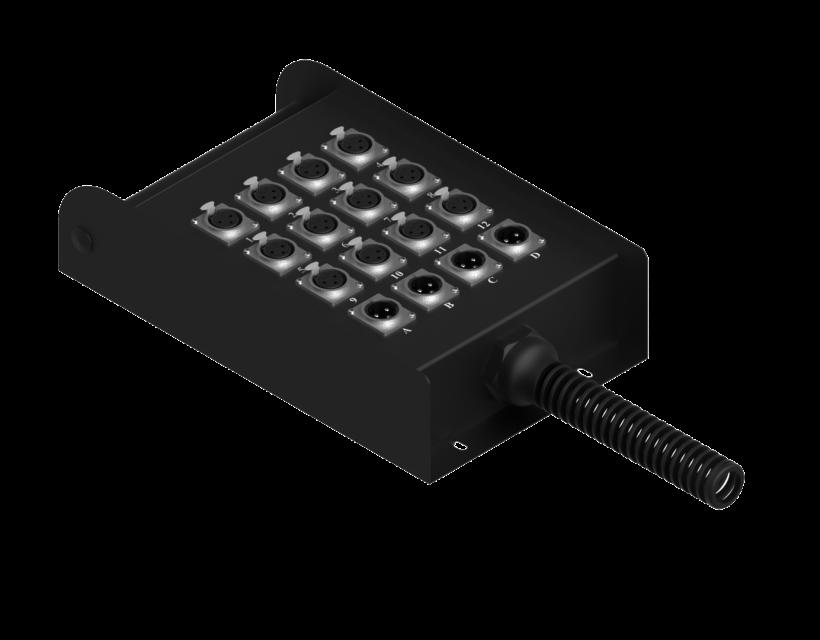 Procab multi connection box 12 inputs & 4 outputs