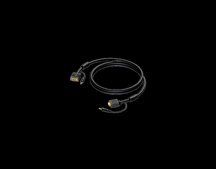 Procab SVGA male & 3.5 mm Jack male stereo - SVGA male & 3.5 mm Jack male stereo 20 meter - hanger