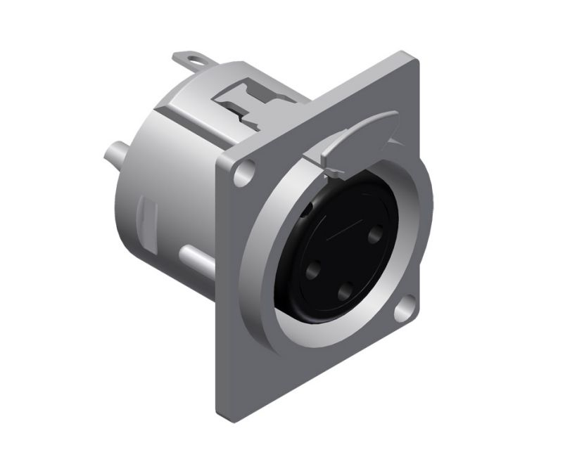 Procab Panel connector - 3-pin xlr female Connector